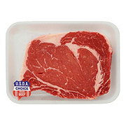 H-E-B Beef Ribeye Steak Boneless Thick USDA Choice