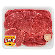 H-E-B Beef Round Steak Bone-In Value Beef, Value Pack, 2-3 steaks