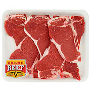 H-E-B Beef T-Bone Steak Value Pack, Value Beef, 4-5 steaks