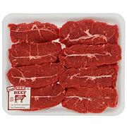 H-E-B Beef Top Blade Steak Boneless Thick Value Pack, USDA Select, 8-9 steaks