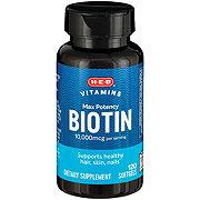 H-E-B Biotin 10000 mcg Softgels