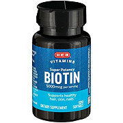 H-E-B Biotin 5000 mcg Softgels
