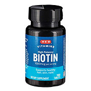 H-E-B Biotin High Potency 1000 mcg Tablets
