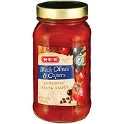 H-E-B Black Olives and Capers Pasta Sauce