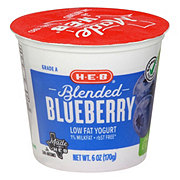 H-E-B Blended Low-Fat Blueberry Yogurt