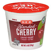 H-E-B Blended Low-Fat Cherry Yogurt