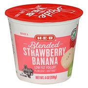 H-E-B Blended Low-FatStrawberry Banana Yogurt