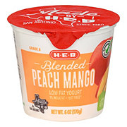 H-E-B Blended Low-Fat Peach Mango Yogurt