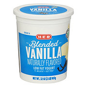 H-E-B Blended Low-Fat Vanilla Yogurt