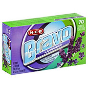 H-E-B Bravo Lavender Fabric Softener Dryer Sheets