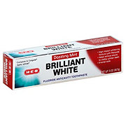 H-E-B Brilliant White Dazzling Mint Fluoride Anticavity Whitening Toothpaste