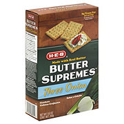 H-E-B Butter Supremes Three Onion Crackers