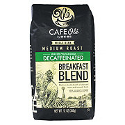 H-E-B Cafe Ole Breakfast Blend Decaf Medium Roast Whole Bean Coffee