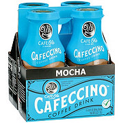 H-E-B Cafe Ole Cafeccino Mocha Coffee Drink 9.5 oz Bottles