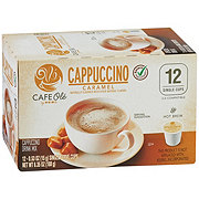 H-E-B Cafe Ole Caramel Cappuccino Single Serve Coffee Cups