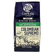 H-E-B Cafe Ole Colombian Bucaramanga Supremo Decaf Medium Roast Ground Coffee