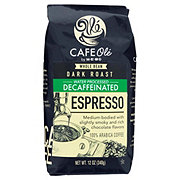 H-E-B Cafe Ole Espresso Decaf Dark Roast Whole Bean Coffee