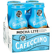 H-E-B Cafe Ole Light Mocha Cafeccino Coffee Drink 4 PK Bottles