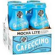 H-E-B Cafe Ole Light Mocha Cafeccino Coffee Drink 9.5 oz Bottles