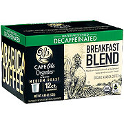 H-E-B Cafe Ole Organics Breakfast Blend Decaf Medium Roast Single Serve Coffee Cups