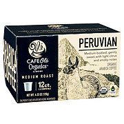 H-E-B Cafe Ole Organics Peruvian Medium Roast Single Serve Coffee Cups