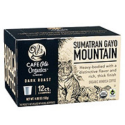 H-E-B Cafe Ole Organics Sumatran Gayo Mountain Dark Roast Single Serve Coffee Cups