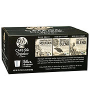 H-E-B Cafe Ole Organics Variety Pack Breakfast Sumatra and Special Single Serve Coffee Cups