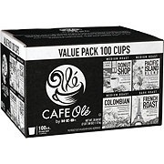 H-E-B Cafe Ole Single Serve Value Pack Donut Shop, Kona Blend, Colombian and French Roast