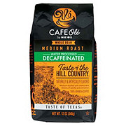 H-E-B Cafe Ole Taste of The Hill Country Decaf Medium Roast Whole Bean Coffee