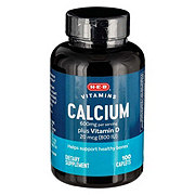 H-E-B Calcium 600MG With Vitamin D