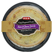 H-E-B Chef Prepared Foods Ham & Cheese Quiche Deep Dish