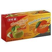 H-E-B Cherry Mixed Fruit and Mandarin Oranges Variety Pack