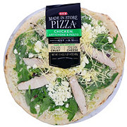 H-E-B Chicken Artichoke and Pesto Pizza, Made In Store