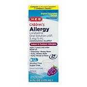 H-E-B Children's Allergy Relief Loratadine 5 mg Sugar Free Grape Syrup