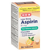 H-E-B Children's Aspirin Orange Chewable Tablets