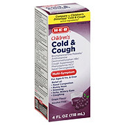 H-E-B Children's Cold And Cough Grape Flavor