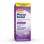 H-E-B Children's Grape Flavor Mucus Relief for Ages 4 -12