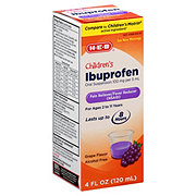 H-E-B Children's Ibuprofen Oral Suspension 100 Mg Grape Flavor