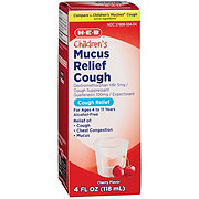 H-E-B Children's Mucus Relief Cherry Flavor