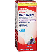 H-E-B Children's Pain Relief Grape Oral Suspension