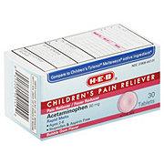 H-E-B Children's Pain Reliever Acetaminophen 80 mg Ages 2-6 Rapid Melts Tablets Bubble Gum Flavor