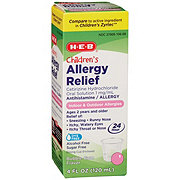 H-E-B Children's Sugar Free Bubblegum Flavor Allergy Relief