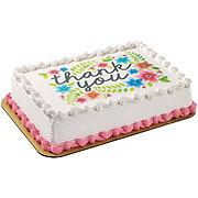 H-E-B Chocolate Cake with Vanilla Ice Cream & Edible Image