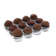 H-E-B Chocolate Cupcakes with Chocolate Buttercream Icing