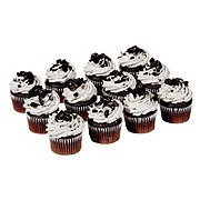 H-E-B Chocolate Cupcakes with Oreo Icing