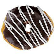 H-E-B Chocolate Iced Zebra Donut