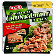 H-E-B Chunk Light Tuna in Spring Water Pouch