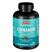 H-E-B Cinnamon Plus Chromium 2000 mg Capsules