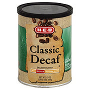 H-E-B Classic Decaf Medium Roast Ground Coffee