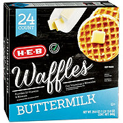 H-E-B Classic Selections Buttermilk Waffles Family Pack